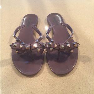 Auth Valentino Rockstud flip flops size 7